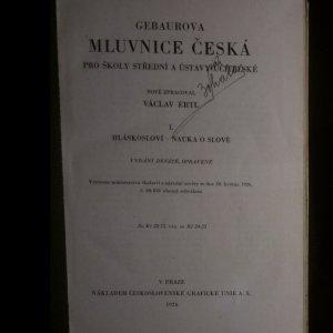 antikvární kniha Mluvnice česká pro školy střední a ústavy učitelské. 1. a 2. díl., 1926