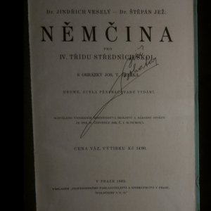 antikvární kniha Němčina pro IV. třídu středních škol, 1932