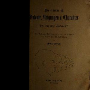 antikvární kniha Wie erkenne ich Talente, Neigungen u. Charakte bei mir und Aanderen?, neuveden