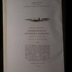 antikvární kniha Dobrodružství Rodericka Randoma, 1954