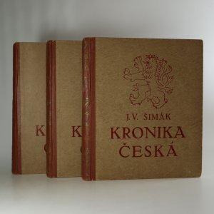 náhled knihy - Kronika česká. Doba stará I-III (3 svazky)