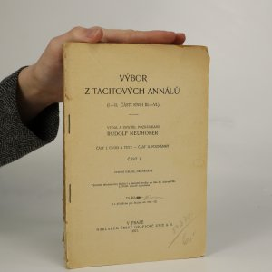 náhled knihy - Výbor z Tacitových Annálů. I.-II. části knih III.- VI.