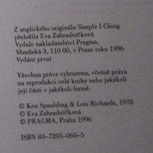 antikvární kniha Jednoduchý I-ťing. Okamžité věštby Knihy proměn, 1996
