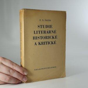 náhled knihy - Studie literárně historické a kritické