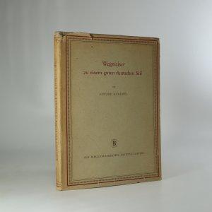 náhled knihy - Wegweiser zu einem guten deutschen Stil