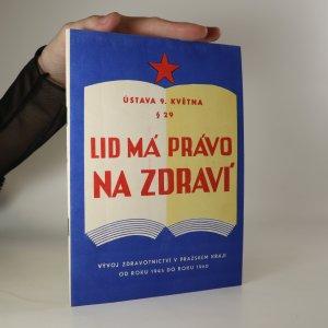 náhled knihy - Lid má právo na zdraví
