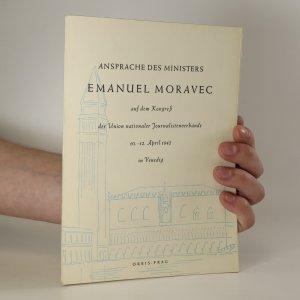 náhled knihy - Ansprache des Ministers Emanuel Moravec