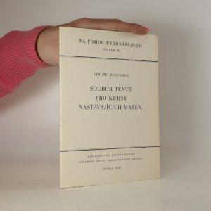 náhled knihy - Soubor textů pro kursy nastávajících matek