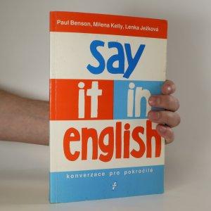 náhled knihy - Say it in English. Konverzace pro pokročilé
