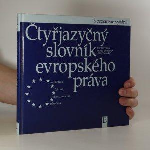 náhled knihy - Čtyřjazyčný slovník evropského práva