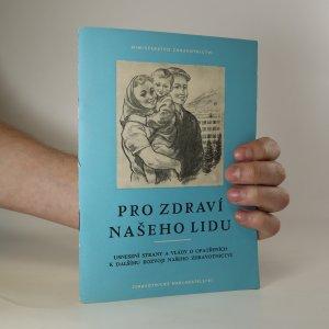 náhled knihy - Pro zdraví našeho lidu