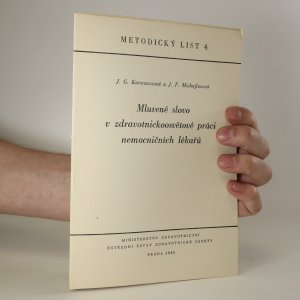 náhled knihy - Mluvené slovo v zdravotnickoosvětové práci nemocničních lékařů