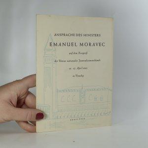 náhled knihy - Ansprache des Ministers Emanuel Moravec auf dem Kongreß der Union nationaler Journalistenverbände 10.-12. April 1942 in Venedig