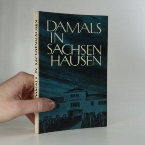 náhled knihy - Damals in Sachsenhausen