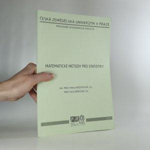náhled knihy - Matematické metody pro statistiky