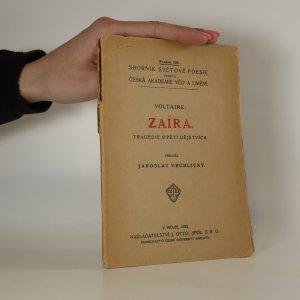 náhled knihy - Zaïra. Tragedie o pěti dějstvích