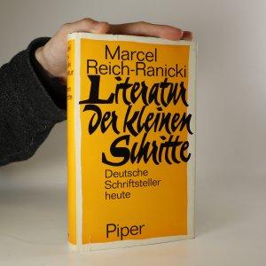 náhled knihy - Literatur der kleinen Schritte. Deutsche Schriftsteller heute