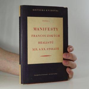 náhled knihy - Manifesty francouzských realistů XIX. a XX. stol