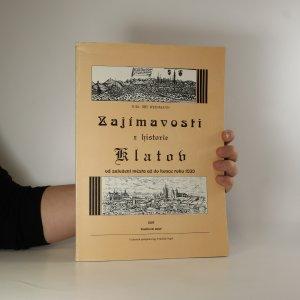 náhled knihy - Zajímavosti z historie Klatov