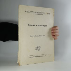 náhled knihy - Materiály a technologie I.