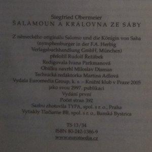 antikvární kniha Šalamoun a královna ze Sáby, 2005