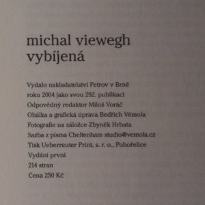 antikvární kniha Vybíjená, 2004