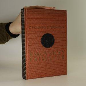 náhled knihy - Rakovnický primátor a jiné rakovnické obrázky