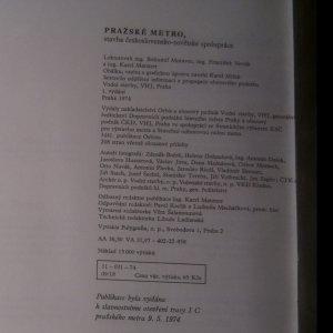 antikvární kniha Pražské metro. Stavba československo-sovětské spolupráce, 1974