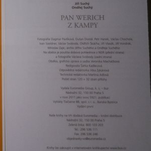 antikvární kniha Pan Werich z Kampy, 2011