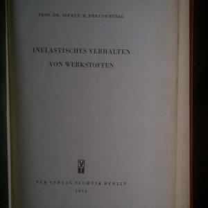 antikvární kniha Inelastisches Verhalten von Werkstoffen, 1955