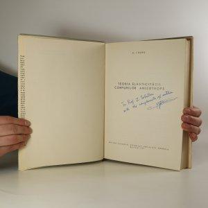 antikvární kniha Teoria elasticitatii corpurilor anizotrope, 1970