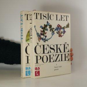 náhled knihy - Tisíc let české poezie (1. a 2. díl ve dvou svazcích)