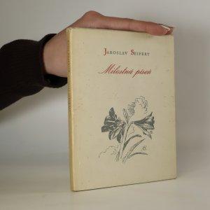 náhled knihy - Milostná píseň. Vybrané básně