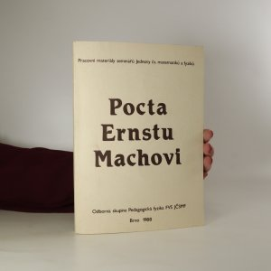 náhled knihy - Pocta Ernstu Machovi