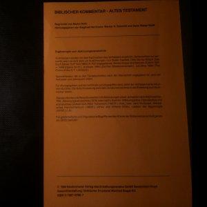 antikvární kniha Biblischer Kommentar XXII. I.-IV. část (4 svazky), neuveden