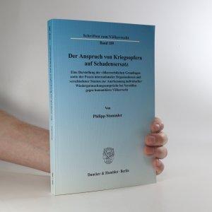 náhled knihy - Der Anspruch von Kriegsopfern auf Schadensersatz