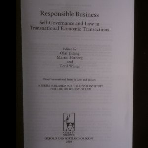 antikvární kniha Responsible Business, neuveden