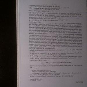 antikvární kniha Principles of transgender medicine and surgery, neuveden