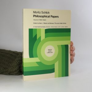 náhled knihy - Moritz Schlick Philosophical Papers. Volume 1: (1909-1922)