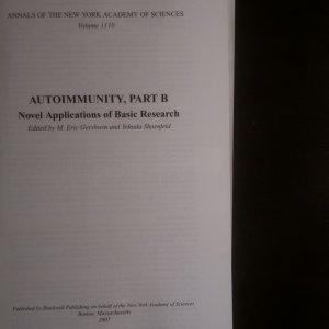 antikvární kniha Autoimmunity, Part A + Part B (2 svazky), 2007