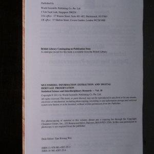 antikvární kniha Multimedia information extraction and digital heritage preservation, neuveden