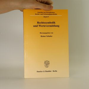 náhled knihy - Rechtssymbolik und Wertevermittlung
