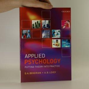 náhled knihy - Applied psychology