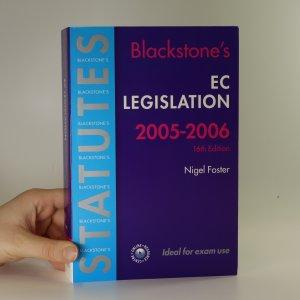 náhled knihy - Blackstone's statutes EC legislation 2005-2006