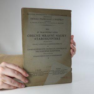 náhled knihy - Obecné mravní nauky staroegyptské. Svazek 3.