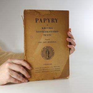 náhled knihy - Papyry a kritika novozákonního textu