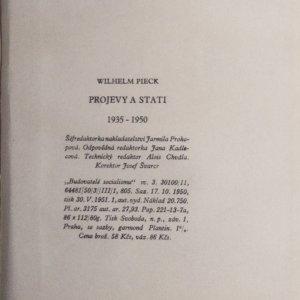antikvární kniha Projevy a stati, 1951