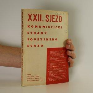 náhled knihy - XXII. sjezd Komunistické strany Sovětského svazu