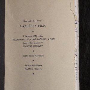 antikvární kniha Lázeňský film, 1929