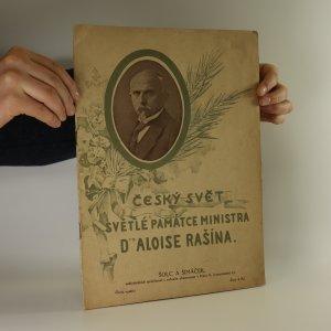 náhled knihy - Český svět. Světlé památce ministra Dr. Aloise Rašína